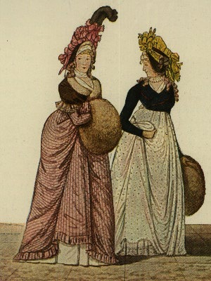 Dresses of March 1795 from The Gallery of Fashion